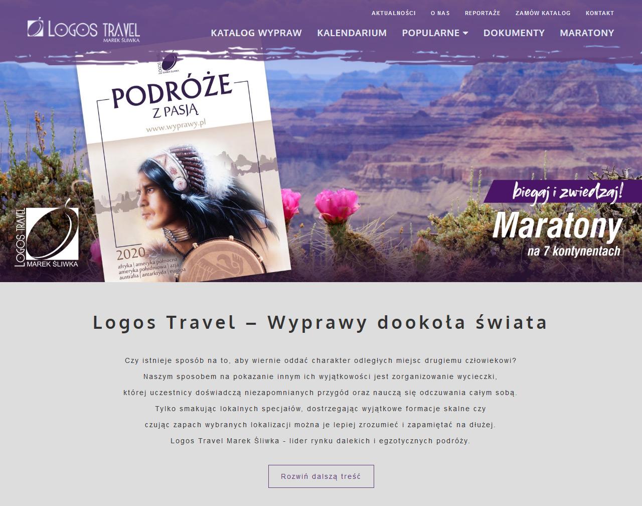 Serwis www dla lidera dalekich podróży w branży turystycznej - Logos Travel 1